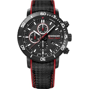 Wenger Roadster Black Night Chrono Cuir Ø 45mm