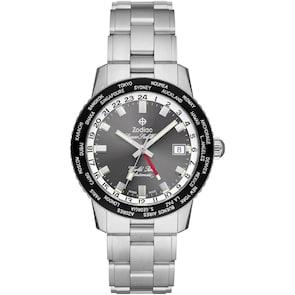 Zodiac Super Sea Wolf GMT World Time Automatic