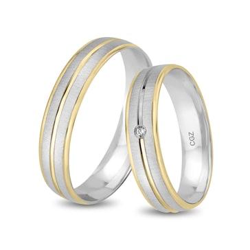 18 carats / 750 or jaune/gris