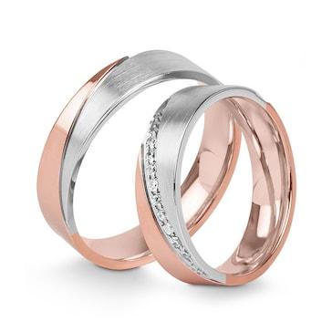 14 carats / 585 or rose/gris