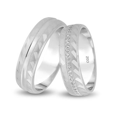 14 carats / 585 or gris