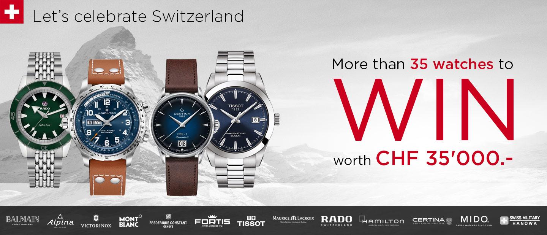 Let's celebrate Switzerland Gewinnspiel