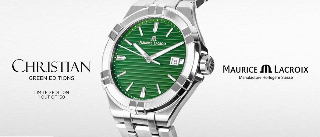 Maurice Lacroix AIKON x CHRISTIAN Green Edition