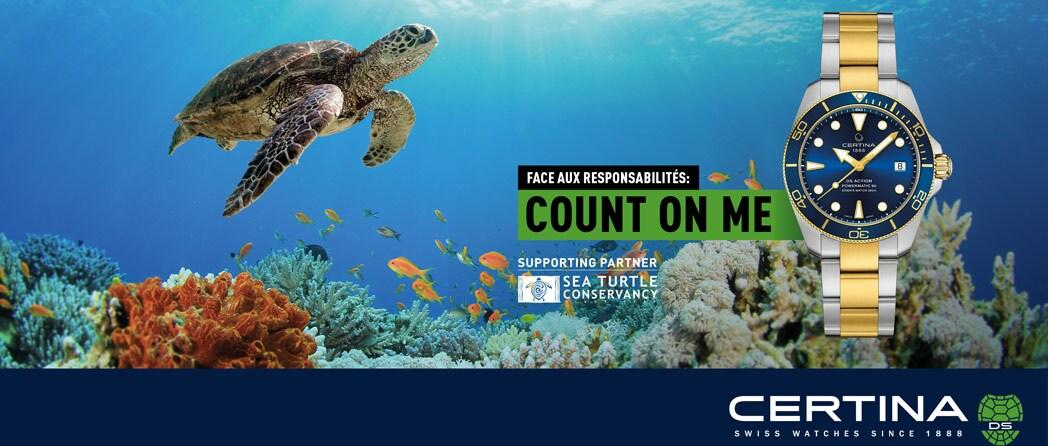 Découvrez la Certina DS Action Powermatic 80 Diver Sea Turtle Conservancy Special Edition