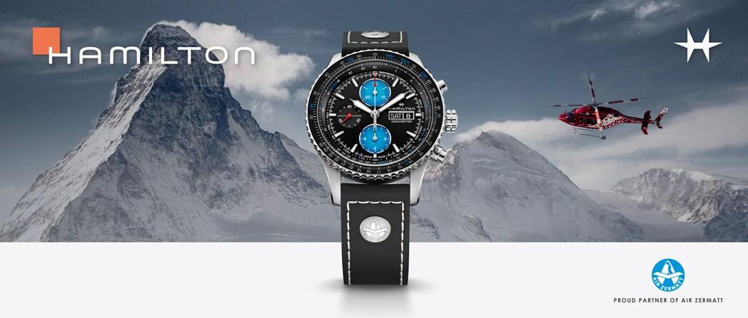 Die neue Hamilton Khaki Aviation Converter Auto Chrono Air Zermatt Limited Edition entdecken