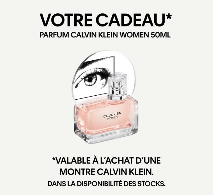 Promotion : Parfum gratuit de Calvin Klein à l'achat d'une montre Calvin Klein