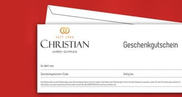 Unser Geschenkgutschein, die CHRISTIAN Card, ist das ideale Geschenk zu jedem Anlass.